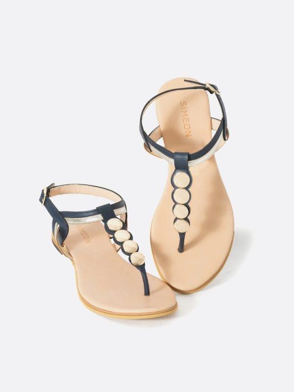 ARI2-AZU, Todos los zapatos, Sandalias Planas, Sintético, Vista Galeria
