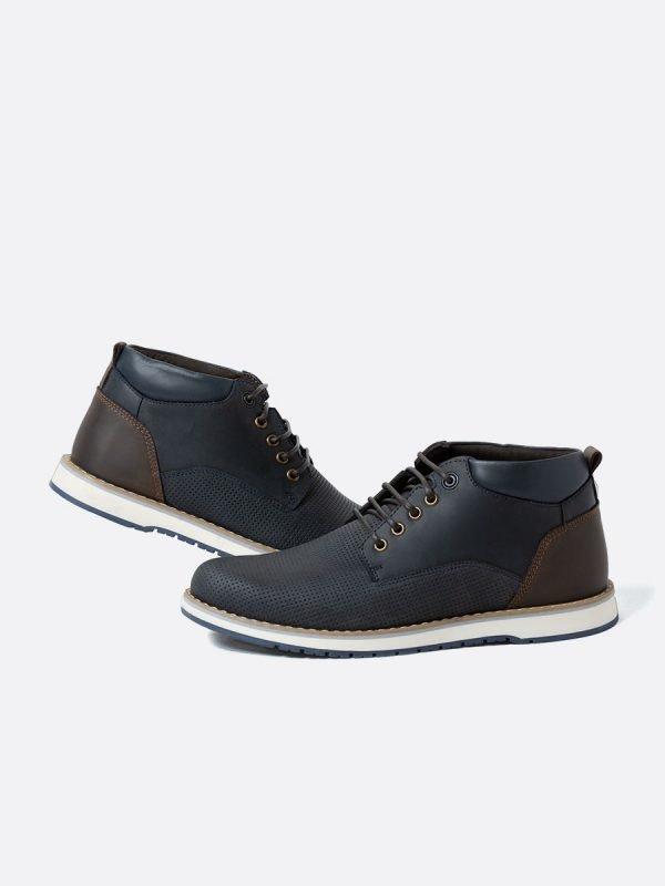 SAMUS05-AZU, Todos los Zapatos, Botas Casuales, Cuero, Vista Galeria