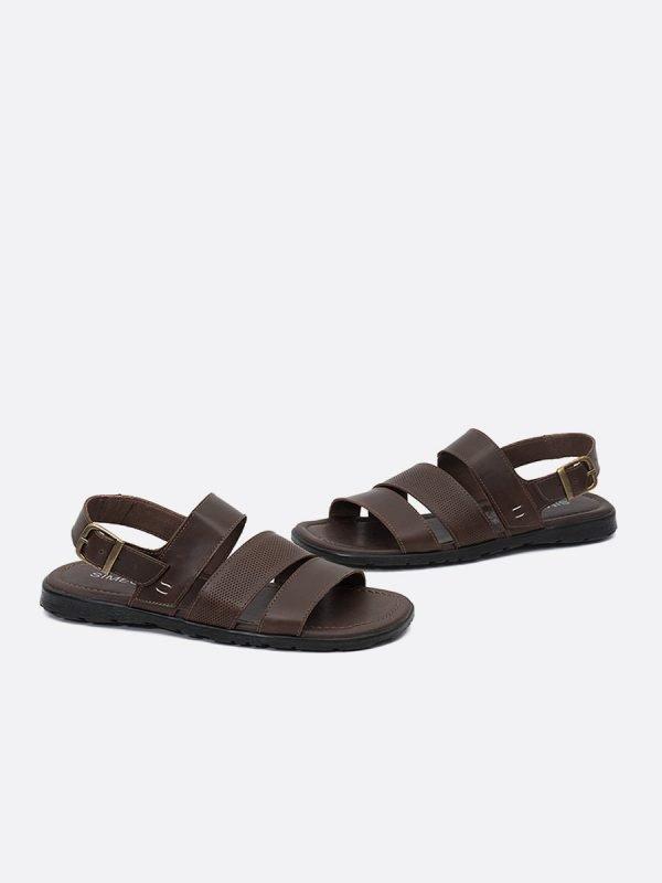 CESARROM21-CAF-, Todos los zapatos,Sandalias para Hombre, Cuero,Vista Galeria