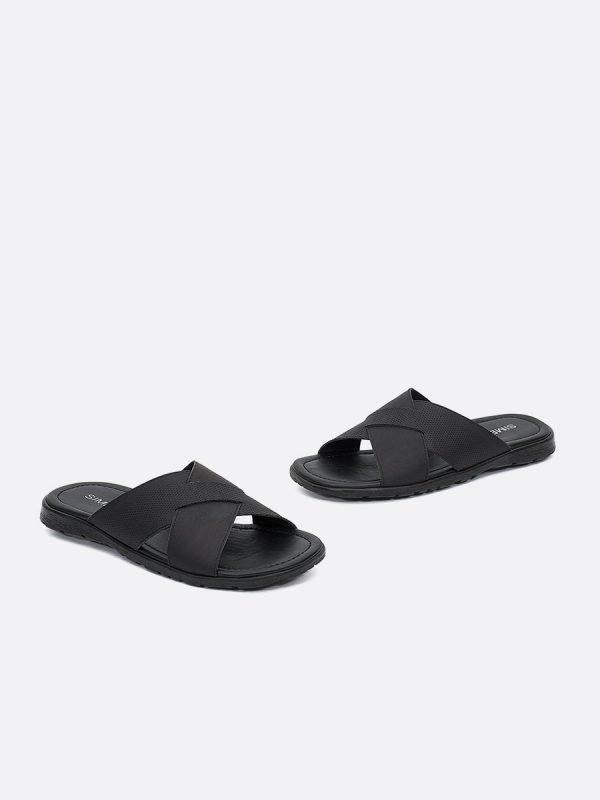CESARSLD21-NEG, Todos los zapatos,Sandalias para Hombre, Cuero,Vista Galeria