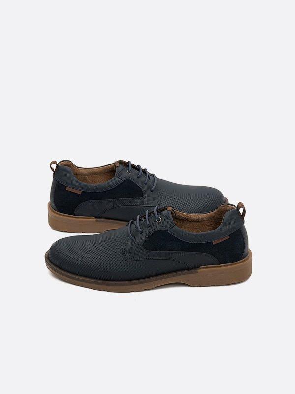 EMIL15-AZU, Todos los Zapatos, Botas Casuales, Cuero, Vista Galeria