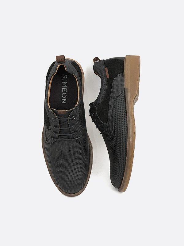 EMIL15-NEG, Todos los Zapatos, Botas Casuales, Cuero, Vista Galeria