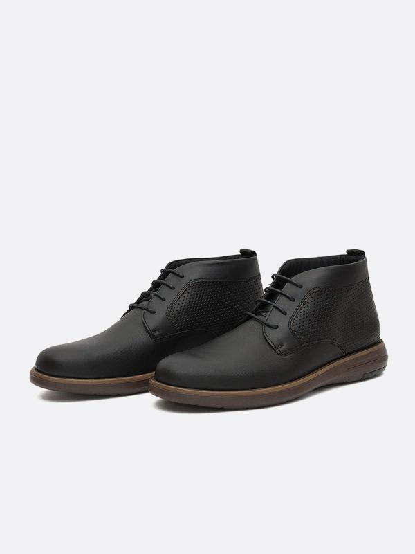 ZARECH08-NEG,Todos los Zapatos, Botas Casuales, Cuero, Vista Galeria