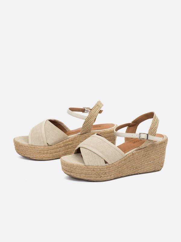 INDIANA21-NAT, Todos los zapatos, Plataforma, Sandalia Casual,Vista Galeria