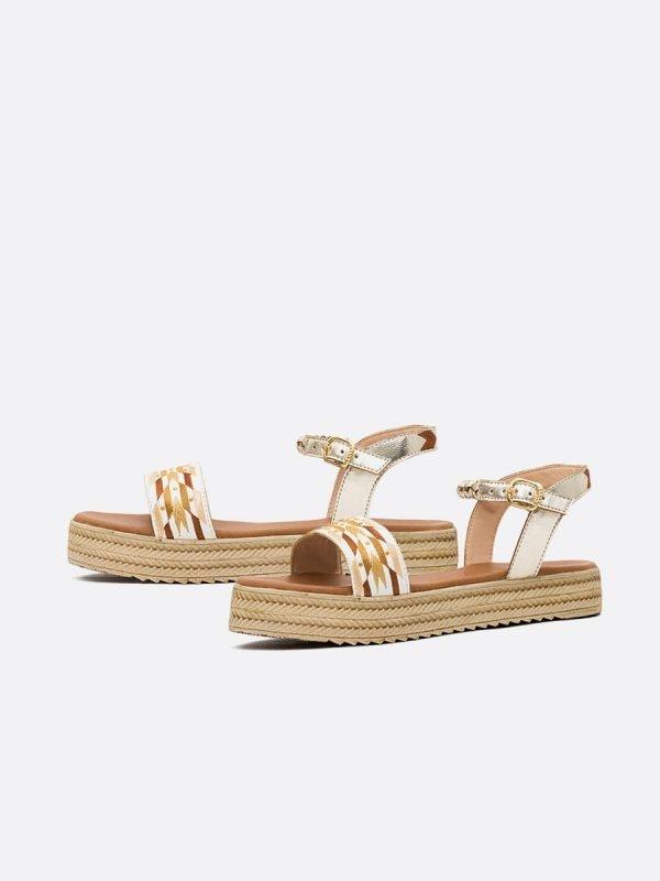 NAVY21 BLA, Todos los zapatos, Sandalias Planas, Sintético, Vista Galeria