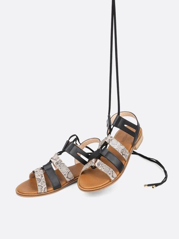 NAVY5-NEG, Todos los zapatos, Sandalias Planas, vista Galeria